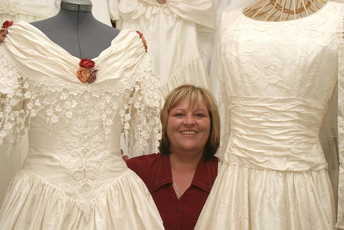 Photo: Anne Baker From John O'Groats New Bridal Dress Business Tickety Boo