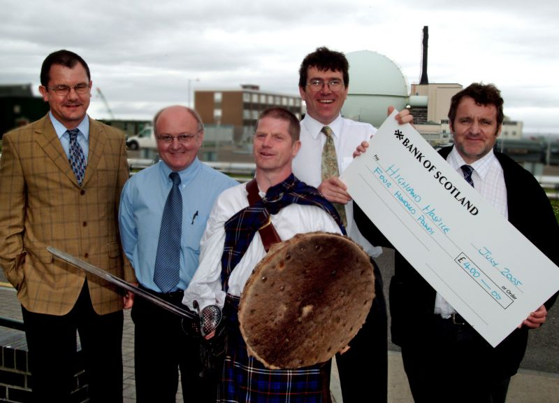 Photo: £800 For Highland Hospice After Jim Findlay Charity Walk