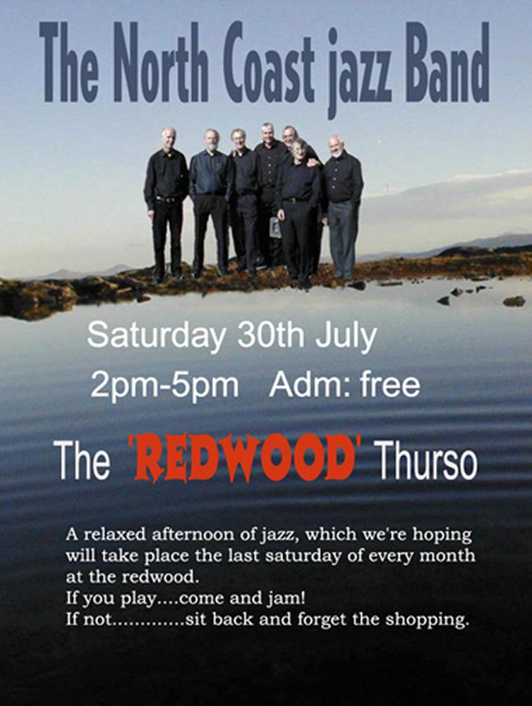 Photo: North Coast Jazz Band Poster for Monthly Gig In Thurso