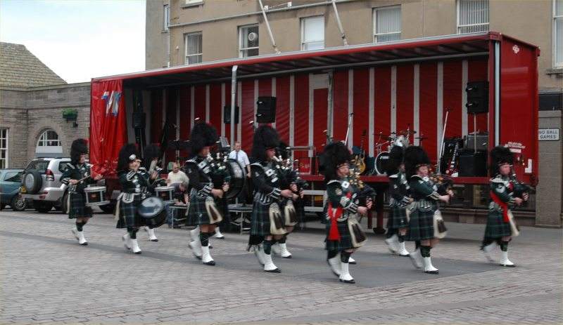 Photo: Wick Pipe Band Week Entertainment In Wick