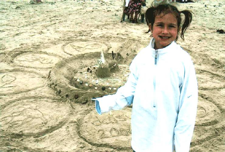 Photo: Daisy Was The Winner Of Sand Castle Competition