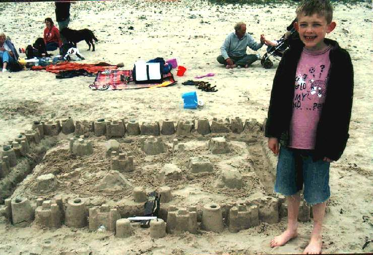 Photo: Andrew MacGregor Was Second In The Sand Castle Competition
