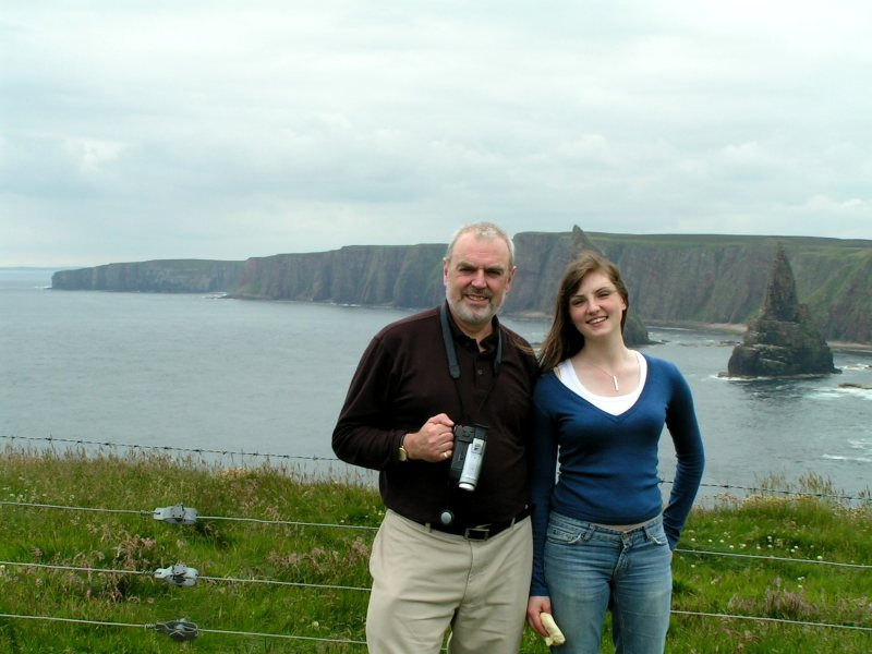 Photo: Ian Thompson and Daughter Claire At Duncansby