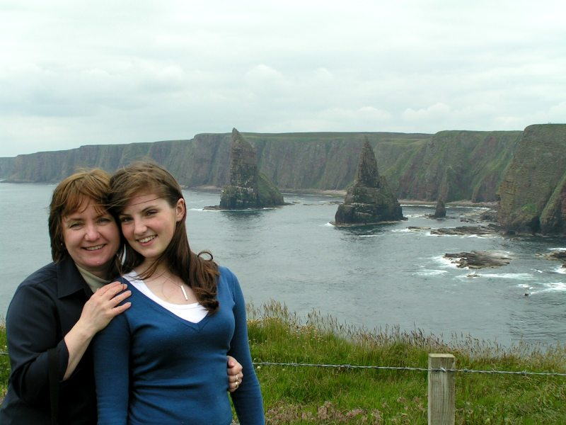Photo: Mrs Monika Thompson And Daughter Claire At Duncansby