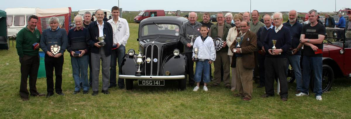 Photo: Winners At The Caithness And Sutherland Vintage Vehicles Rally 2006