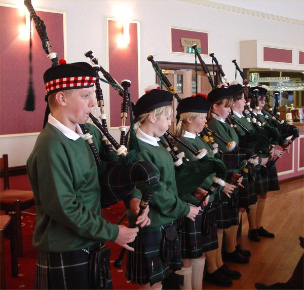 Photo: Caithness Junior Pipers At the Wick Rotary Concert