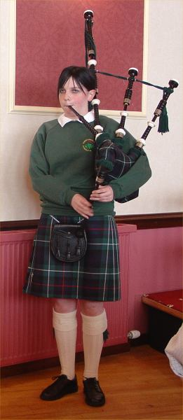 Photo: Piping To Accompany The Highland Dancing