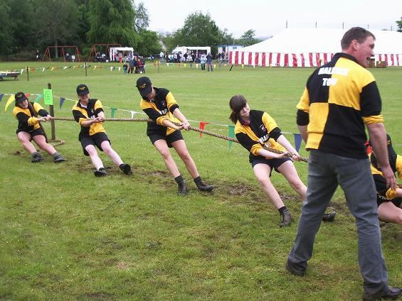 Photo: Halkirk Young Farmers Girls Winning Tug O'War Team At Cronhill