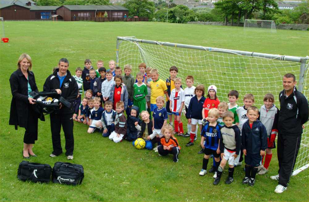 Photo: First Aid Kits Donated To Thurso Swifts Junior Football Club