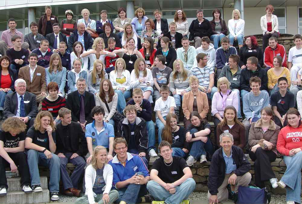 Photo: Young Folk and Joint Committee Members At Highland Youth Voice 2006