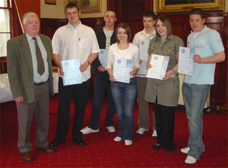 Photo: Bill Fernie Presented Certificates To Some Young Volunteers