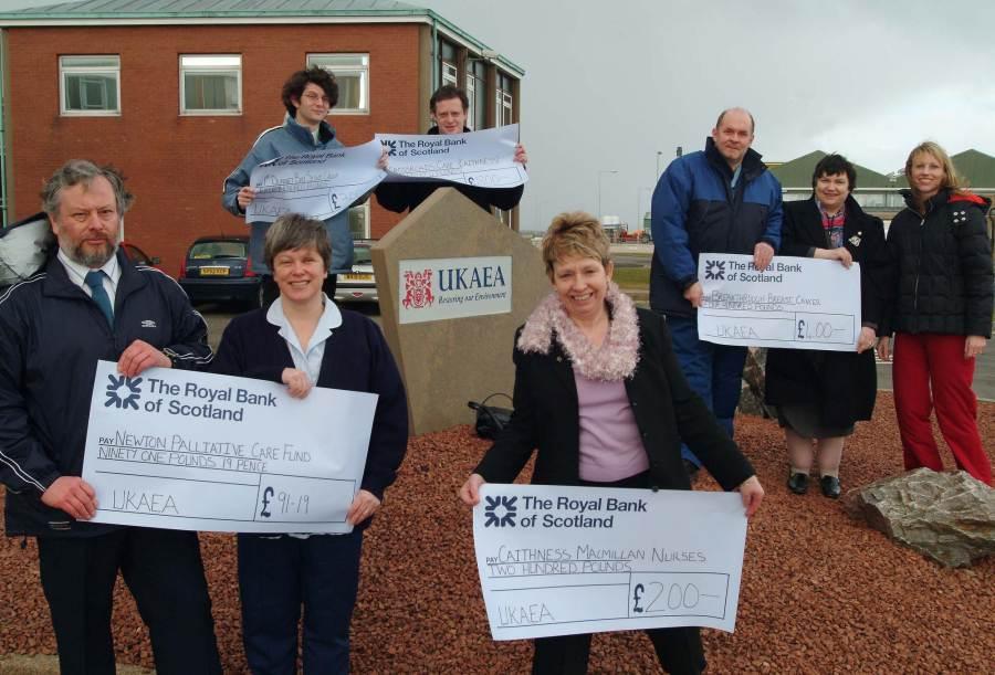 Photo: UKAEAs 50th Anniversary Fund Donates To Seven Local Charities
