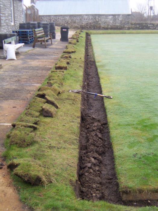 Photo: Lybster Bowling Club Upgrading The Green For Competition Standard