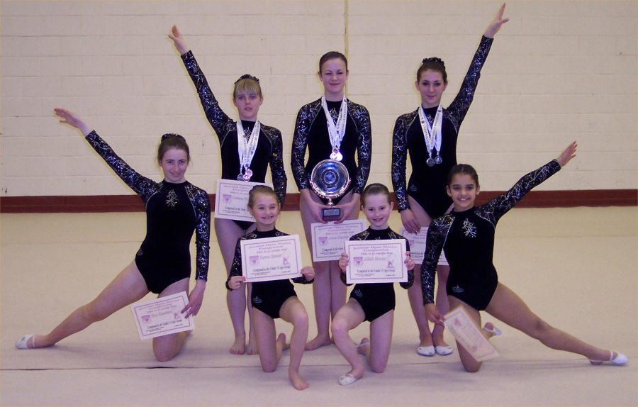 Photo: Caithness Competitors At The Rhythmic Gymnastics Scottish Novice Competition