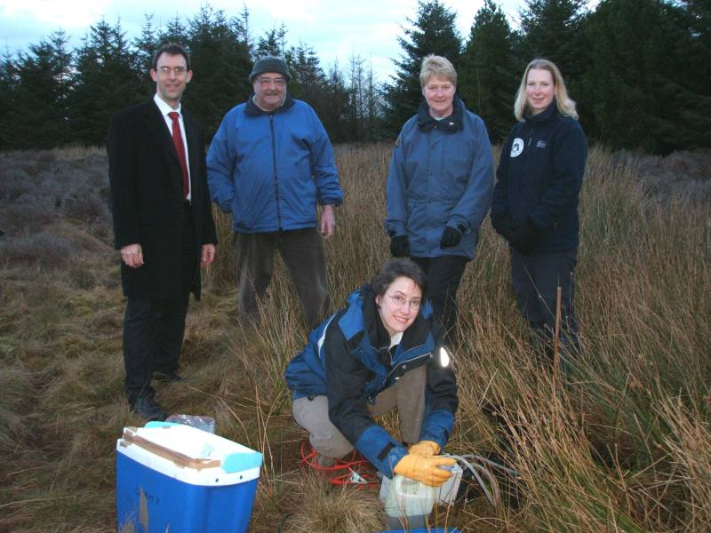 Photo: Sarah Henderson Taking A Water Sample With Friends Of Newtonhill