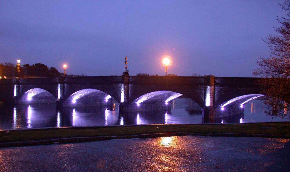 Photo: Bridge Lit Up
