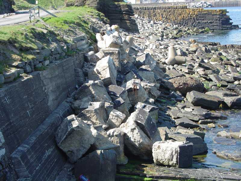 Photo: Concrete Blocks From Radio Station Masts Protect The Coast