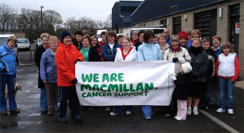 Photo: Annual MacMillan Cancer Walk At Wick - Wet But Successful
