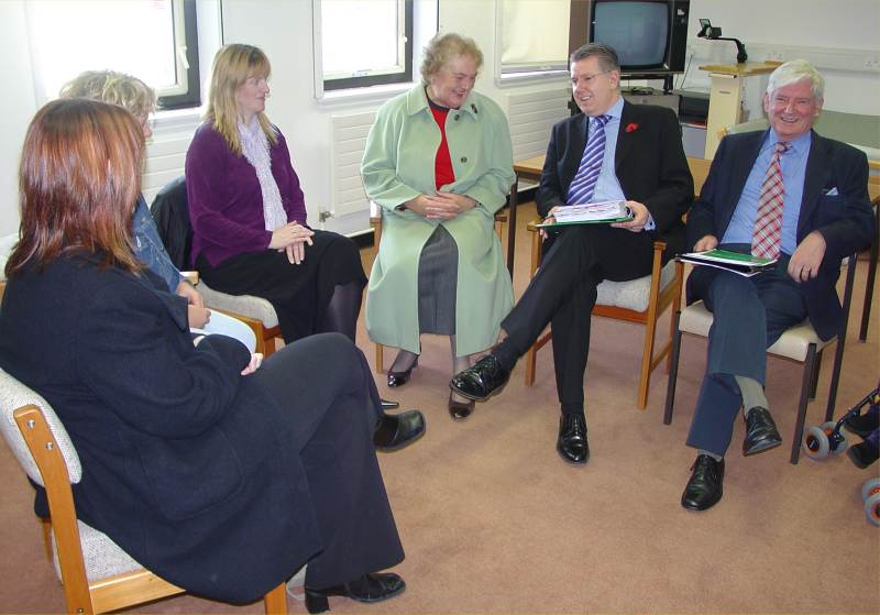 Photo: North Action Group Members Put Maternity View To Health Minister Andy Kerr