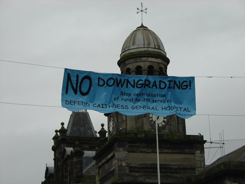 Photo: North Action Group Raises Maternity Banner Over Wick