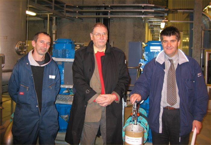Photo: Rob Gibson Visiting The New Water Treatment Works At Halkirk