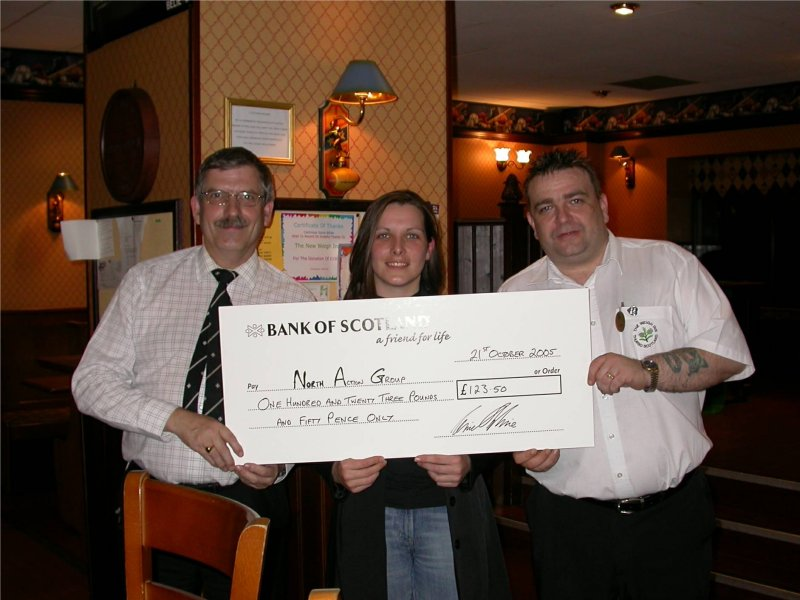 Photo: Wiegh Inn Staff Donate �123.50 To North Action Group Maternity Campaign