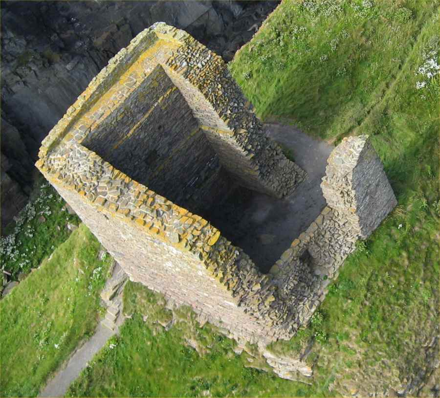 Photo: Kite Cam View Of Castle Of Old Wick 22 July 2008