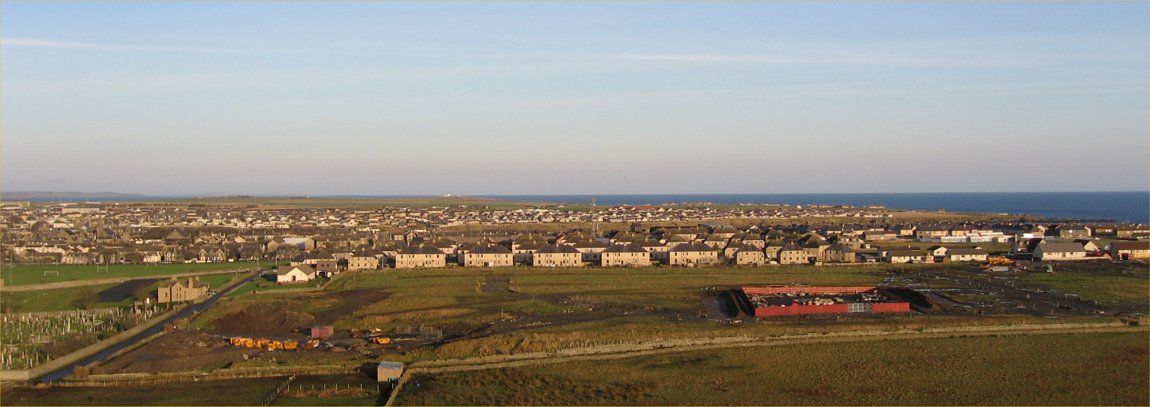 Photo: Looking Over Wick - New Housing Complex Being Formed In Front Of Kennedy Terrace