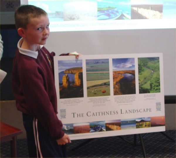 Photo: John Bain From Dunbeath School Launched the New Poster