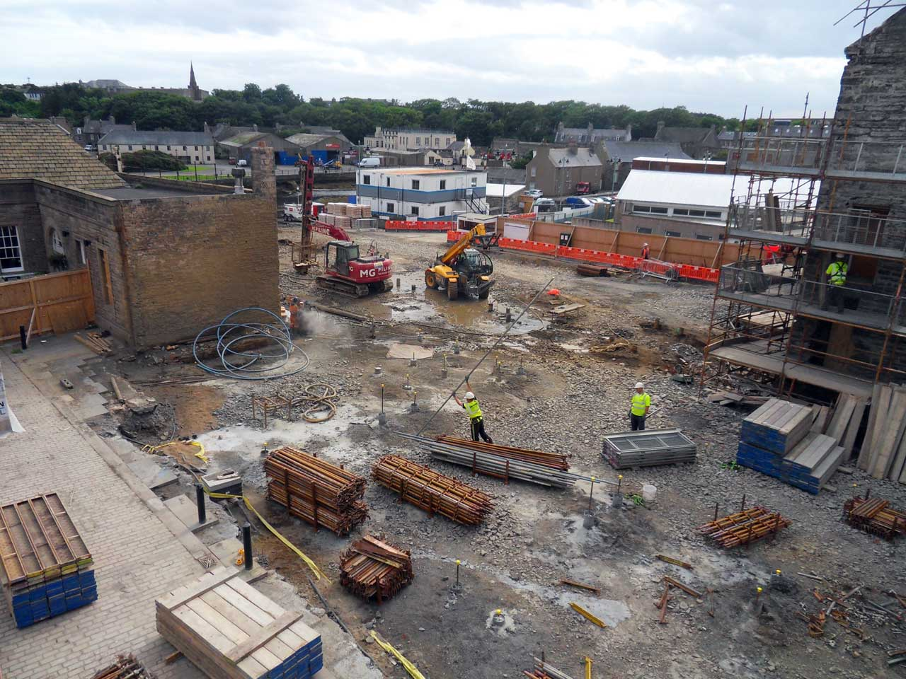 Photo: Wick Council Offices - Pile Driving Continues