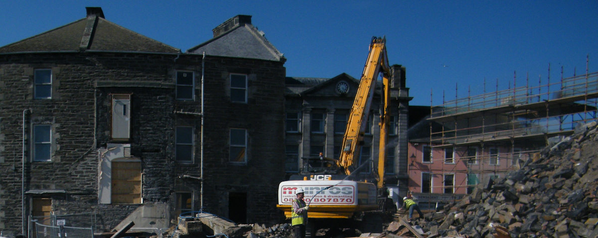 Photo: Wick Council Offices Demolition - The End