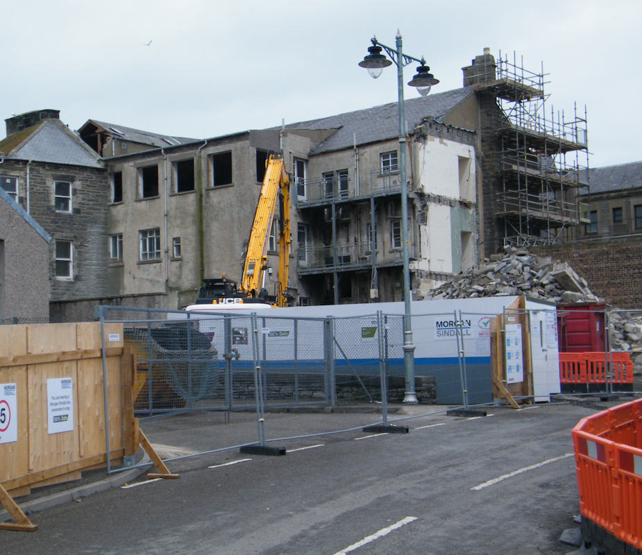Photo: Wick Council Offices Demolition Underway