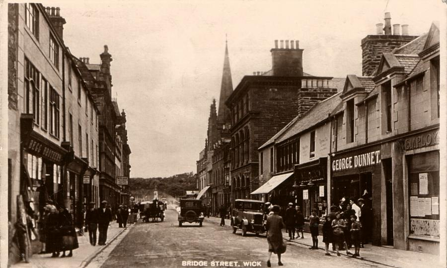 Photo: Bridge Street, Wick - Posted 19 June 1930