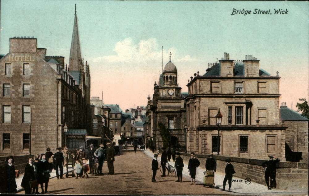 Photo: Bridge St, Wick - Posted 20 September 1919