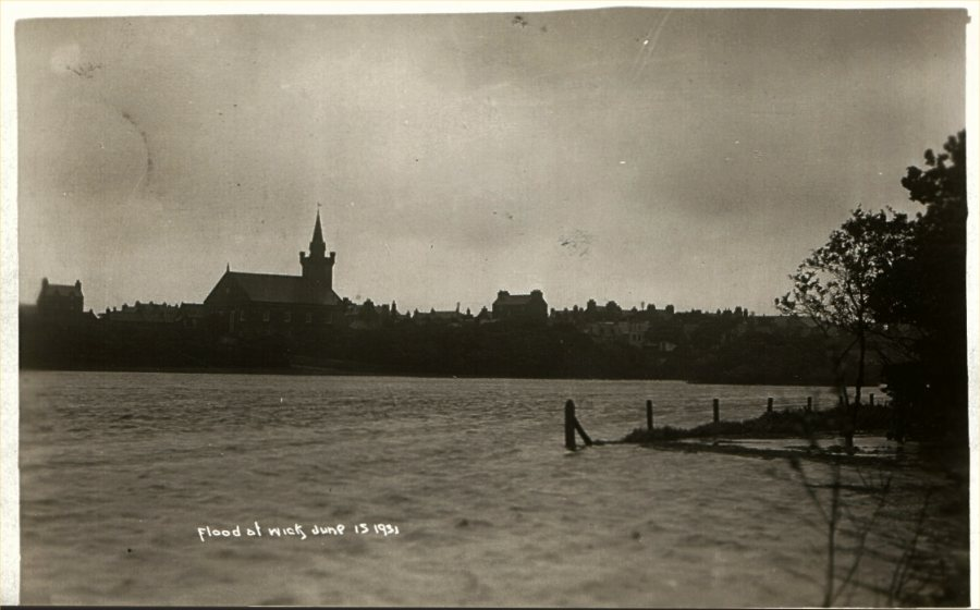 Photo: Flood At Wick - 1931
