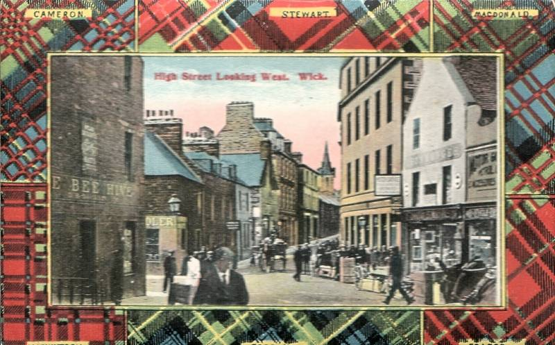 Photo: High Street, Wick Looking West - Posted 8 October 1919