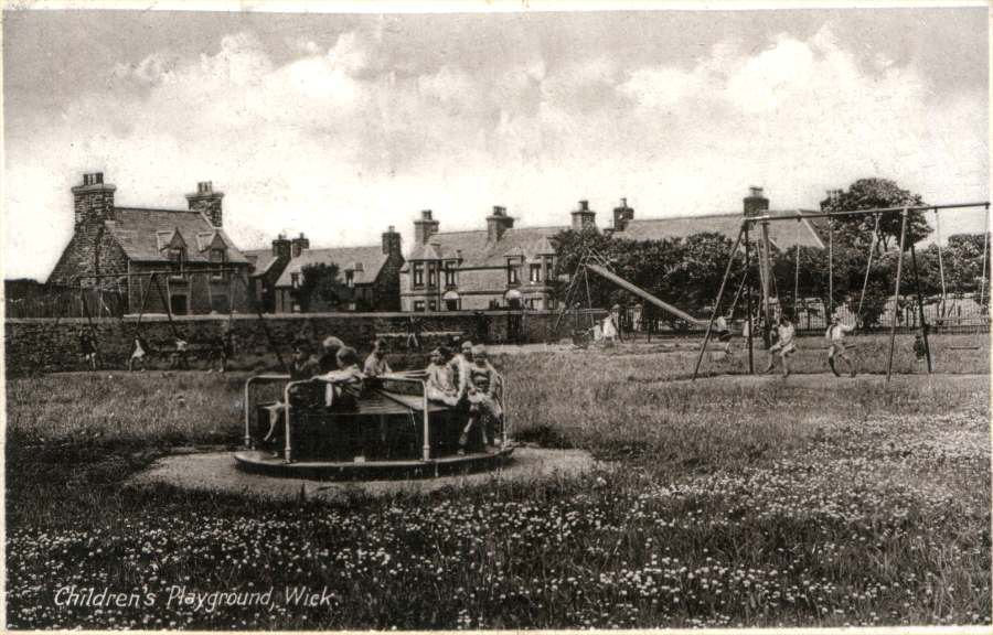 Photo: Children's Playground, Wick - Posted 11 May 1935