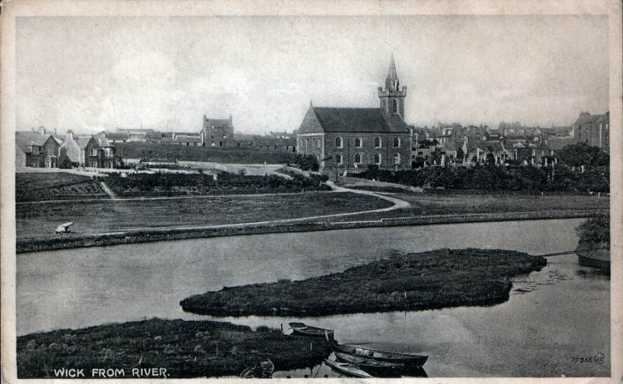 Photo: Wick River With The Cannon - Posted 27 February 1925
