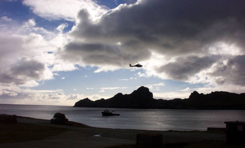 Photo: Helicopter Over Dun - St Kilda