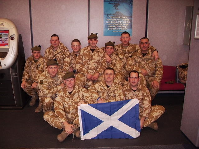 Photo: Caithness Soldiers Arrive At Basra Airport