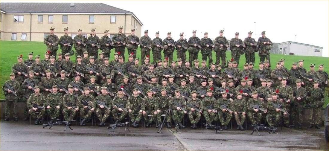 Photo: Caithness Men With Alemein Company Bound For Iraq