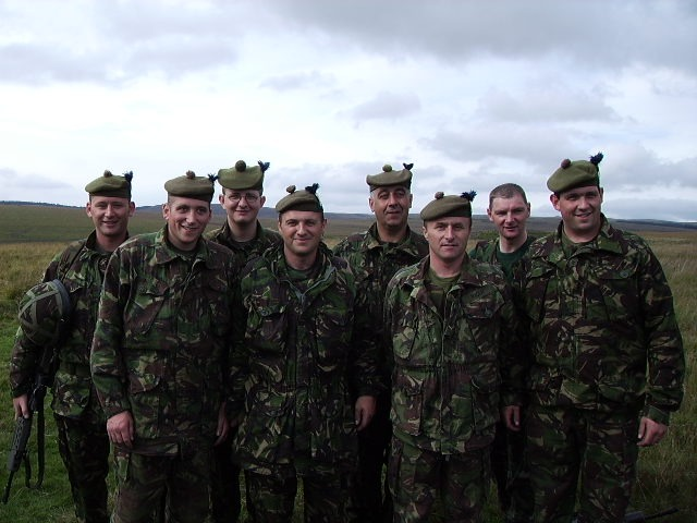 Photo: Caithness Men Traning On Op Telic 9 For Iraq