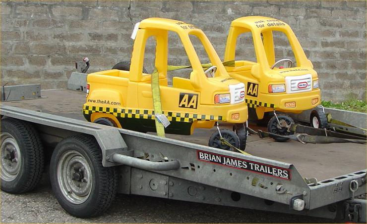 Photo: AA Vehicles On A Charity Run John O'Groats To Landsend