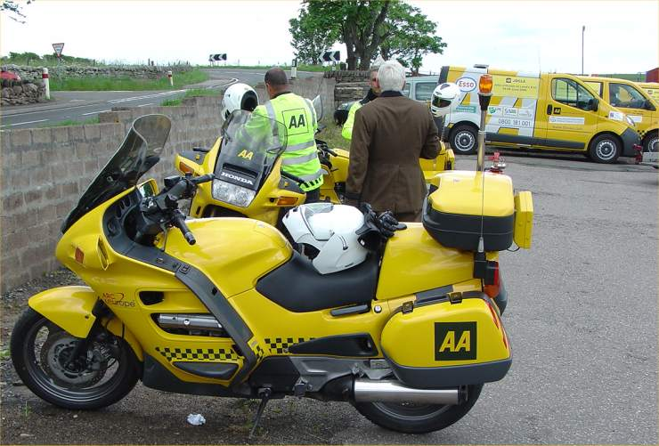 Photo: AA Vehicles On A Charity Run John O'Groats To Landsend