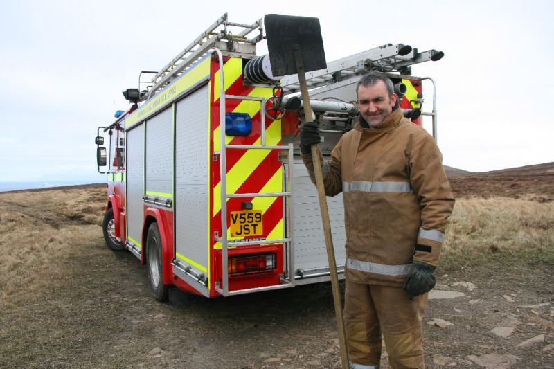 Photo: Fire At Dunnet Head