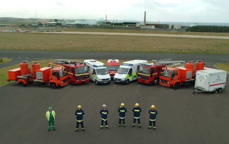 Photo: Emergency Vehicles At Dounreay in 2003