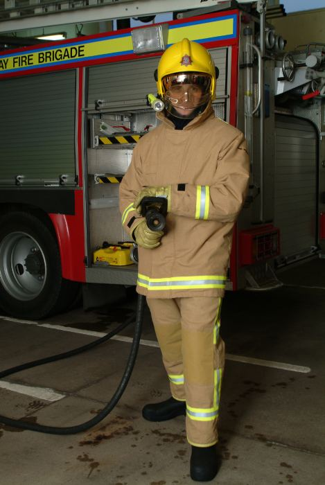Photo: Firefighter at Dounreay 2003