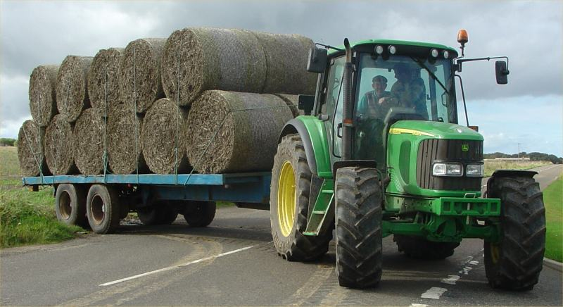 Photo: Taking In Round Bales At Hastigrow