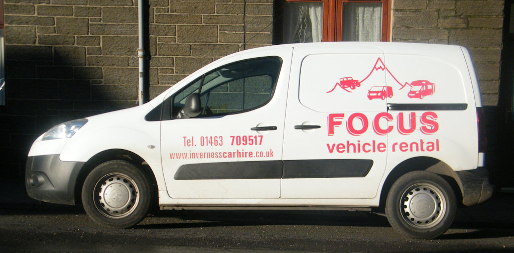 Photo: Rental Van From Inverness