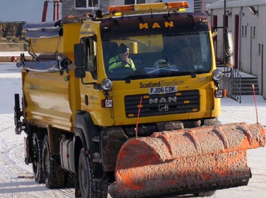 Photo: A Gritter Snow clearer At Dunbeath